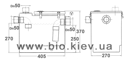 сепаратор жира под мойку 501